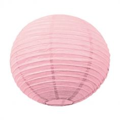 Lanterne japonaise en papier rose vintage - 15 cm
