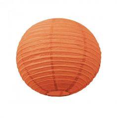 Lanterne Japonaise en Papier Orange - 35 cm