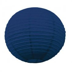 Lanterne Japonaise en Papier Bleu Nuit - 50 cm
