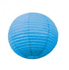 Lanterne Japonaise en Papier Turquoise - 35 cm