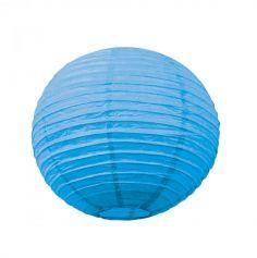 Lanterne Japonaise en Papier Turquoise - 15 cm