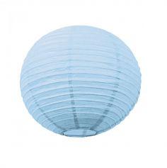 Lanterne Japonaise en Papier Bleu Ciel - 35 cm