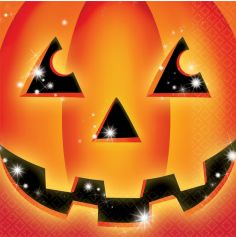 "Pack de 16 serviettes - Collection ""Pumpkin"""
