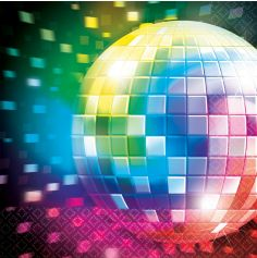 Serviettes x16 - Disco fever