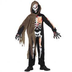 Halloween - Déguisement Garçon Squelette Zombie - Taille au Choix