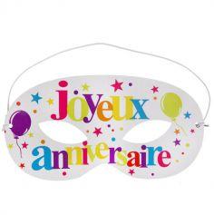 """10 Masques festif """"Joyeux Anniversaire"""" - Multicolore"""