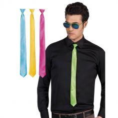 Cravate fluo - Couleur au choix