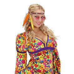 Bandeau Hippie avec perles et plumes