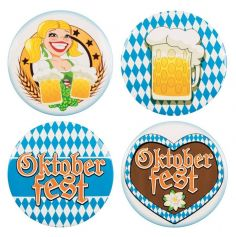 "Sachet de 4 badges ""Oktoberfest"""