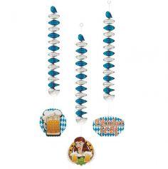 Sachet de 3 décorations Spirale Oktoberfest