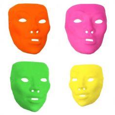 Masque Carnaval Néon Femme - Coloris au Choix