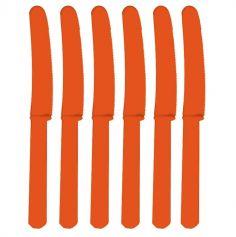 10 Couteaux en Plastique Oranges