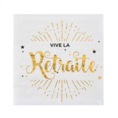 """20 Serviettes """"Vive la Retraite"""" - Elégant"""