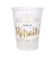"10 Gobelets ""Vive la Retraite"" - Elégant"