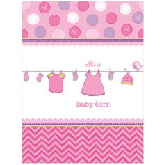 Nappe en plastique Baby Shower - It's a Baby Girl !