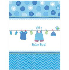 Nappe en plastique Baby Shower - It's a Baby Boy !