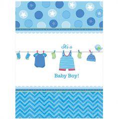 Nappe en plastique Baby Shower - It's a Baby Boy !