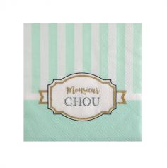 "20 Serviettes - Collection ""Monsieur Chou"""