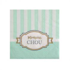 """20 Serviettes - Collection """"Monsieur Chou"""""""