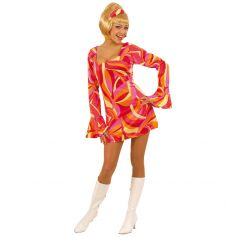 Costume Disco 70's Fuchsia / Rouge - Taille au Choix