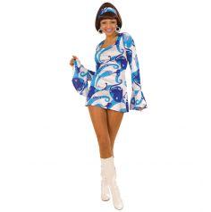 Costume Disco 70's Blanc et Bleu - Taille au Choix