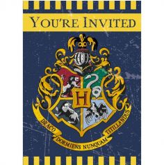 Sachet de 8 cartons d'invitations avec enveloppe - Harry Potter