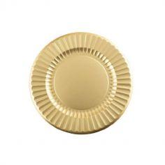6 assiettes plates en carton de 33 cm - Couleur au Choix