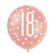 ballons-decoration-salle-anniversaire-age-rose-gold-glitz | jourdefete.com