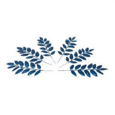 6 Branches de feuilles tropicales - Couleur au choix