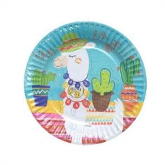 6 Petites Assiettes Lama en Carton | jourdefete.com