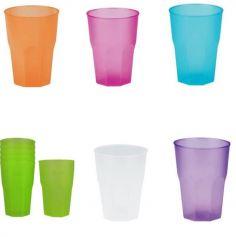6 Verres à Cocktail 350 ML - Coloris au choix | jourdefete.com