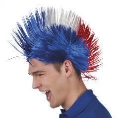 Perruque Punk Tricolore