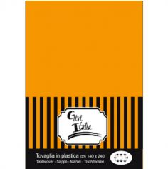 Nappe en plastique unie - Orange