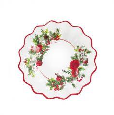 8 Petites Assiettes en Carton - Christmas Elegance