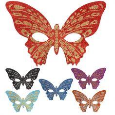 Loup Papillon Pailleté - Coloris au Choix