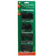 Sachet de 300 Crochets à Boules de Noël (2 Tailles) - Noir