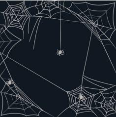 Sachet de 20 serviettes noires avec toiles d'araignée