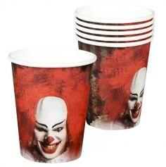 Sachet de 6 Coupelles en Carton - Clown d'Horreur