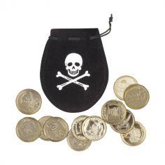 Bourse de Pirate avec 12 Pièces d'Or