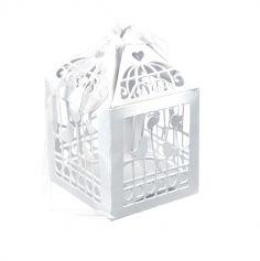 20 Contenants à Dragées Cages à Oiseaux - Blanc
