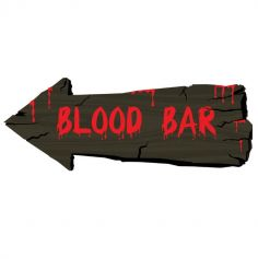 "Pancarte Décorative ""Blood Bar"""