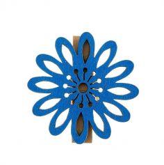 6 Pinces Fleur Mambo Bleu