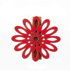 6 Pinces Fleur Mambo Rouge