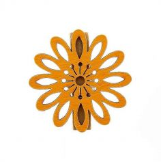 6 Pinces Fleur Mambo Orange