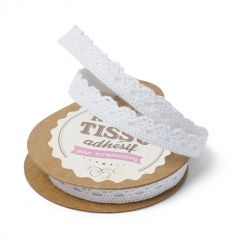Ruban Dentelle Adhésif - Blanc