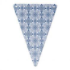 5 Fanions à carreaux de ciment Gypsy - Bleu marine