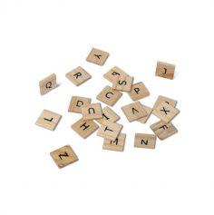 Lettres de l'alphabet façon scrabble en bois