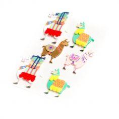 Sachet de 6 stickers Lamas Péruviens