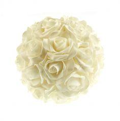 Boule de roses Blanche - 20cm