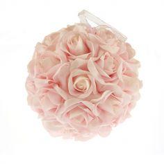 Boule de roses Rose - 20cm